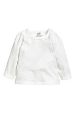 Jersey top - White - Kids | H&M 1
